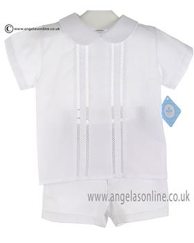 Sardon Baby Boys  Shirt & Short AB-1607/1601 White