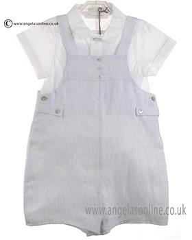 Laranjinha Baby Boys Shirt & Dungaree CV634 Blue