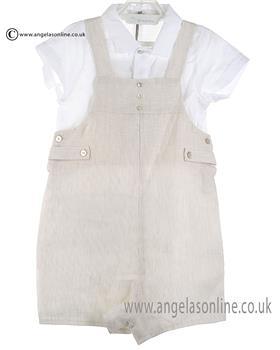 Laranjinha Baby Boys Shirt & Dungaree CV634 Biege