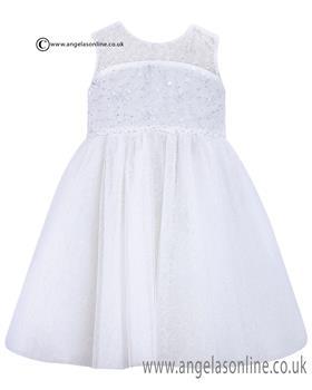 Sarah Louise Girls Christening Dress 070022 White