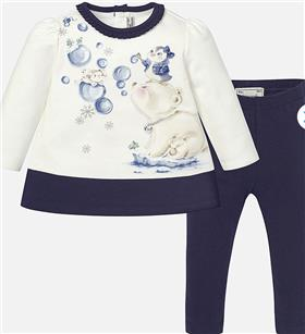 Mayoral Baby Girls Dress & Legging 2902-16 Navy
