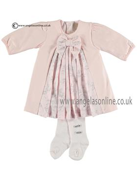 Emile et Rose Baby Girls Pleated Dress & Tights 8305pp Jessica
