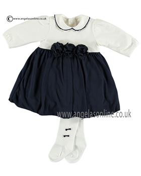 Emile et Rose Baby Girls Dress, Body & Tights 8315nv Jewell