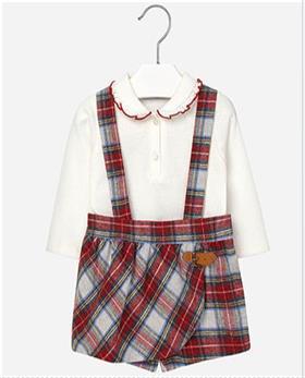 Mayoral Baby Girls Blouse & Short Set 2218-16 Red