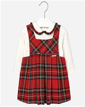 Mayoral Baby Girls Blouse & Pinafore 2962-16 Red