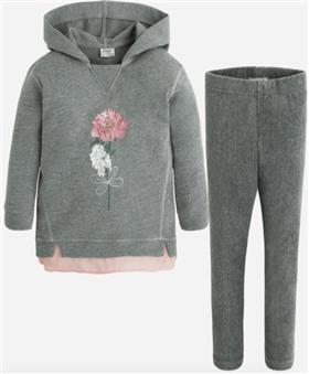 Mayoral Girls Hooded Jogger 4700-16 Grey
