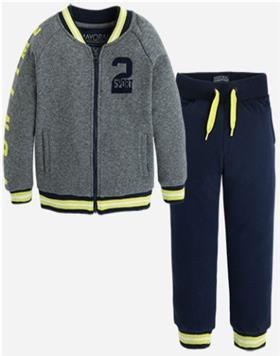 Mayoral Boys Jog Suit 4812-16 Lime/Nv
