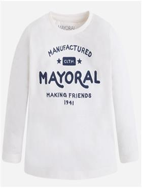Mayoral Boys Long Sleeve Top 173 Cream
