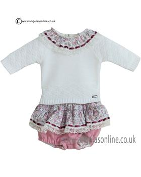 Dolce Petit baby girls knitted jumper & jam pant 20-2104-23
