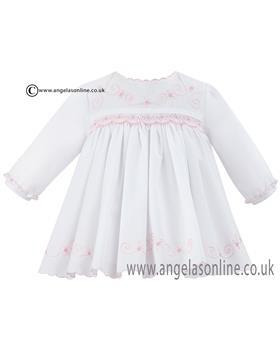 Sarah Louise Baby Girls Dress 010463 Wh/Pk