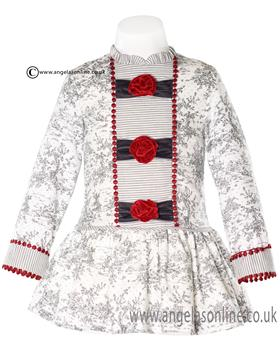 Miranda girls dress 20-0257-V Grey
