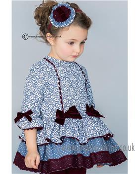 Dolce Petit Girls Dress 20-2220-V Blue