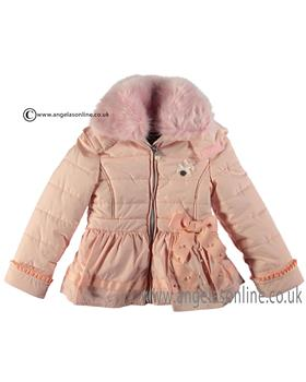 S&D Le Chic Girls Satin Bow Jacket C6075203 Pink
