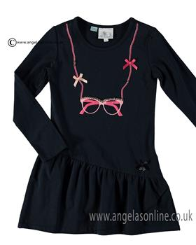 S&D Le Chic Girls Dress C6075815 Navy