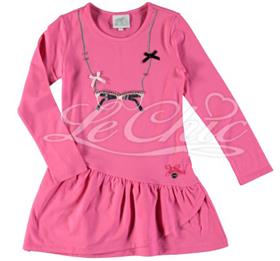 S&D Le Chic Girls Dress C6075815 Cerise