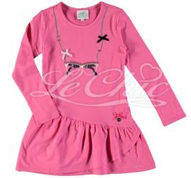 S&D Le Chic Girls Dress C6075815 Cerise