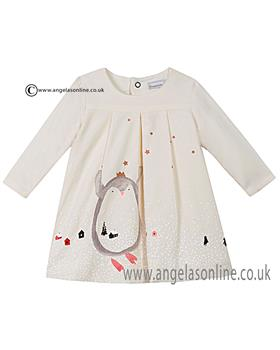 Catimini baby girls dress CI30061 Vanilla
