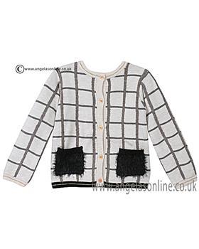 Catimini girls reversible knitted cardigan CI18043