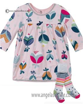 Catimini baby girls dress & tights CI30131-194011