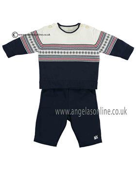 Emile et Rose Baby Boys Top & Trousers 6376nv Jasper