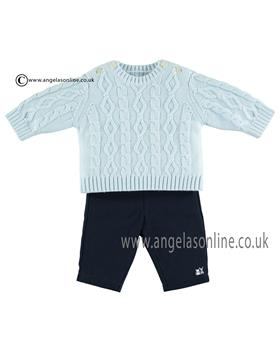 Emile et Rose Baby boys Knitted Jumper & Trousers 6383pb Joshua
