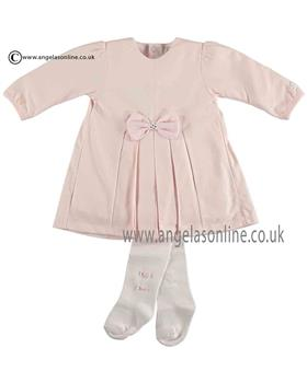 Emile et Rose Baby Girls Bow Dress & Tights 8300pp Jackie