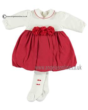 Emile et Rose Baby Girls Dress, Body & Tights 8315rd Jewell