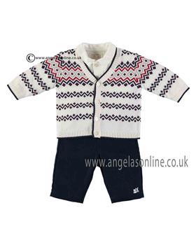 Emile Et Rose Boys 3 Pce, Cardigan, Vest & Trousers 9502nv Jerry