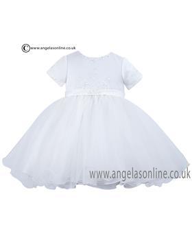 Sarah Louise Girls Christening Dress 070023-1 White