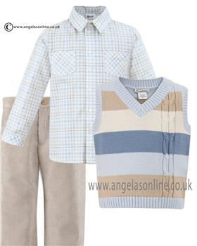 Sarah Louise boys shirt tank top & trouser 010585-582-586