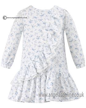 Sarah Louise girls long sleeve smock dress 010539