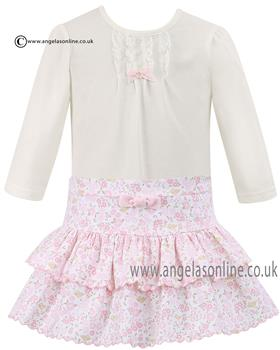 Sarah Louise girls top & skirt D09058-09059