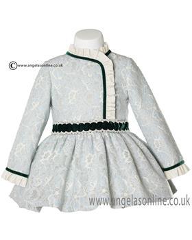 Miranda girls dress 20-0234-v Green