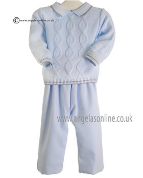 Pretty Originals Boys Jumper & Trouser JPC3185 Bl/Gr