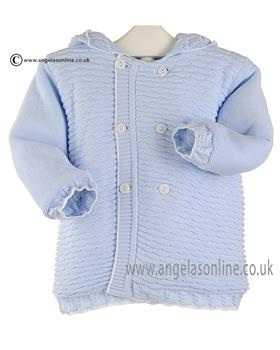 Pretty Originals baby boys knit jacket JPC2134 BL-WH