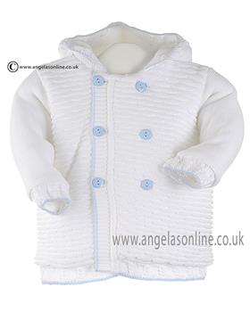 Pretty Originals baby boys knit jacket JPC2134 WH-BL