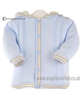 Pretty Originals baby boys knitted jacket JPC1134E BL/GR