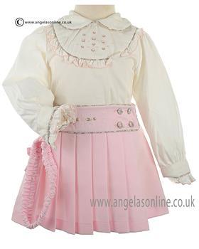 Pretty Originals Girls Blouse & Skirt MC01040 Pink