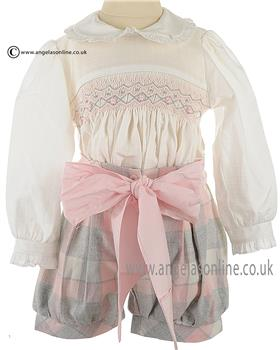 Pretty Originals baby girls blouse & shorts BD01666E
