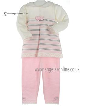 Pretty Originals Girls Knitted Top & Pants JPC1260 Pink