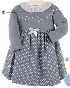 Granlei Girls Spotty Dress 2-1061 Blue