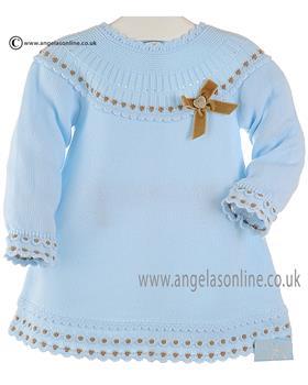 Granlei girls kntted dress 2-1311-16 blue