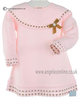 Granlei girls knitted dress 2-1311-16 PK-BR