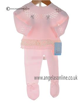 Granlei two piece knitted set 2-1252 Baby Pink