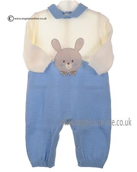 Stella Boys Knitted Romper DD5210 Blue