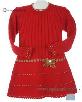 Granlei girls knitted dress 2-1310-16 Red