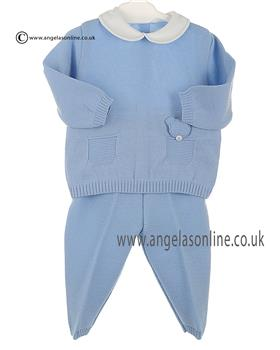 Stella Baby Boys Knitted 2Pce DD5350 Blue