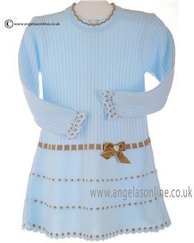 Granlei girls knitted dress 2-1310-16 Blue
