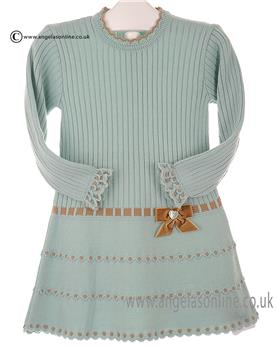 Granlei girls knitted dress 2-1310-16 Green