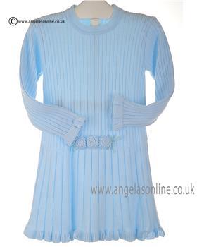 Granlei girls knitted dress 2-1440-16 blue
